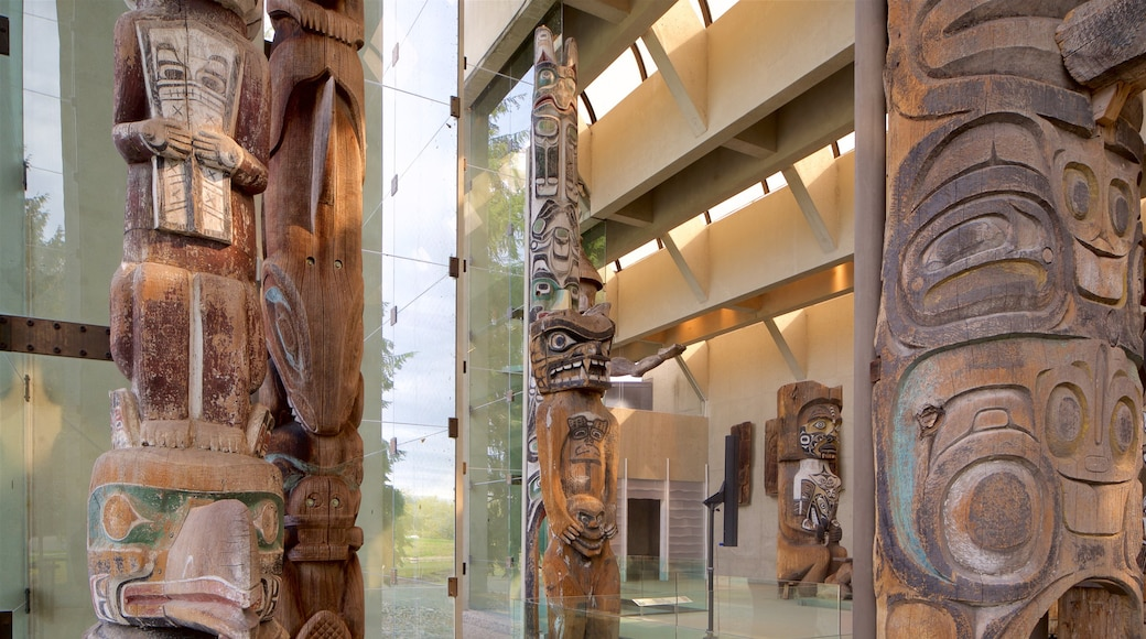 Museum of Anthropology featuring interior views and indigenous culture