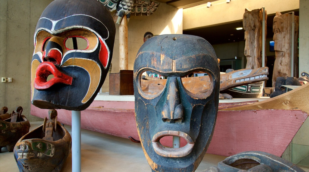 Museum of Anthropology featuring indigenous culture and interior views