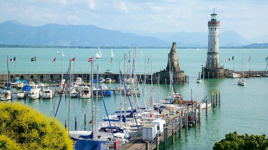 Baden-Württemberg das einen Bucht oder Hafen, Marina und Leuchtturm