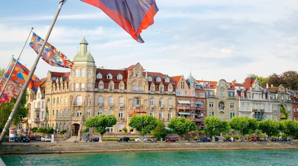 Hafen von Konstanz das einen Fluss oder Bach