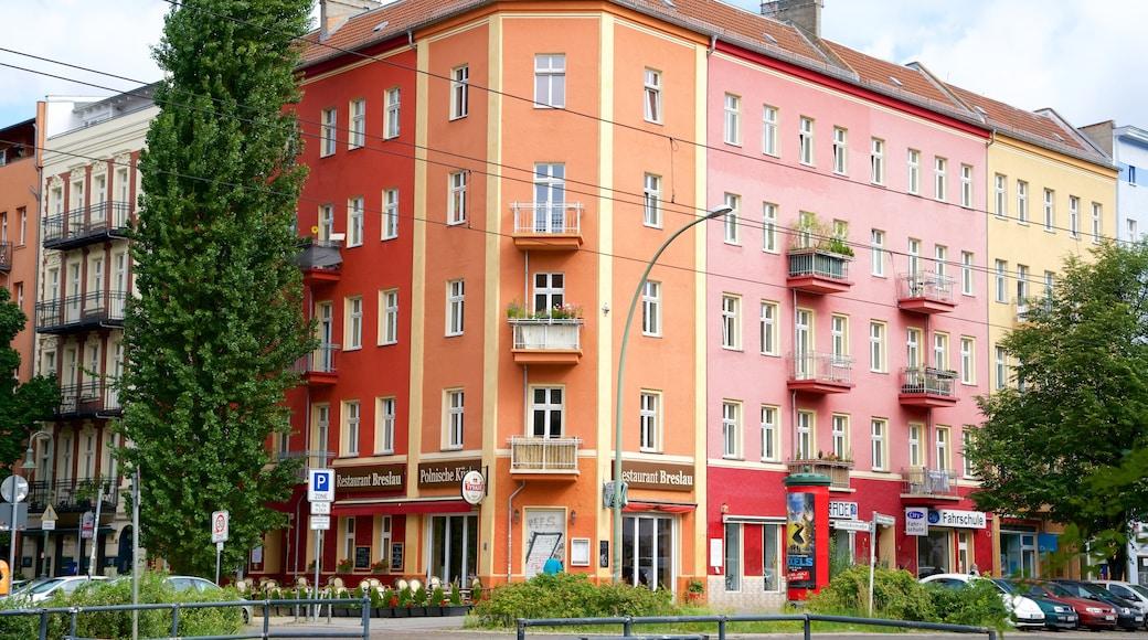 Prenzlauer Berg que incluye imágenes de calles