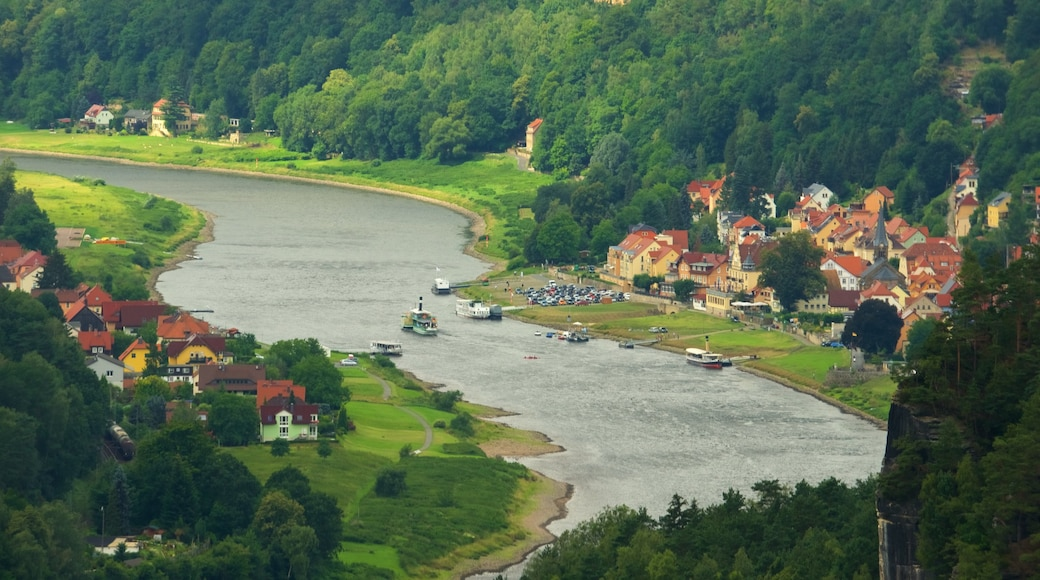Saxon Switzerland National Park featuring a river or creek and a small town or village