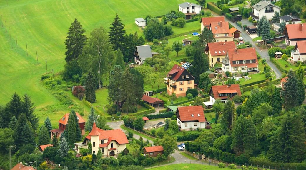 Bad Schandau ofreciendo un pueblo y tierra de cultivo