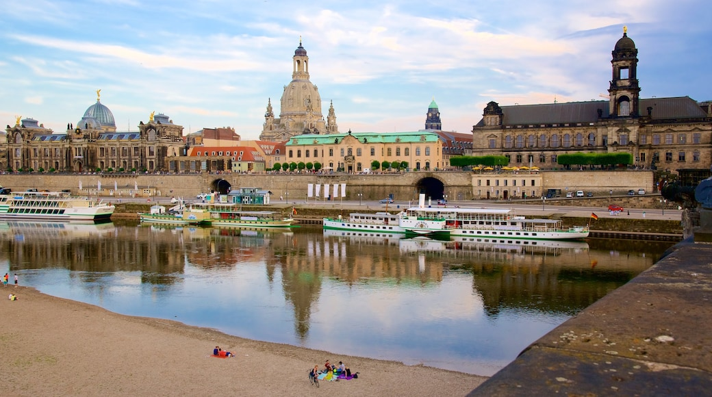 Dresden which includes a river or creek and a city