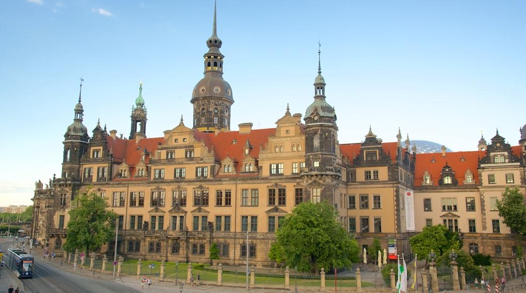 Residenzschloss Dresden mit einem historische Architektur