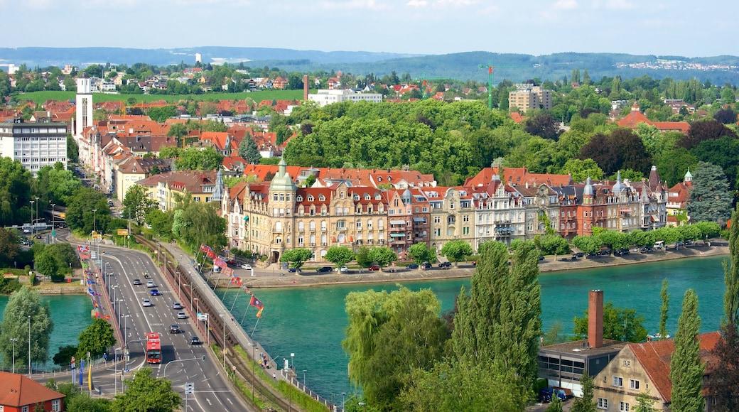Konstanz joka esittää joki tai puro ja kaupunki