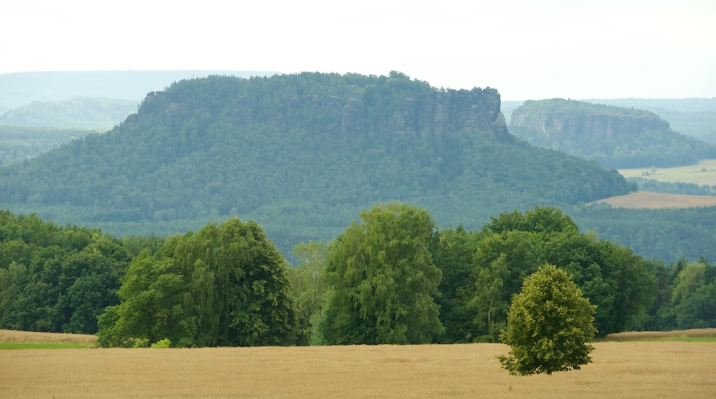 Saxon Switzerland National Park which includes farmland and mountains