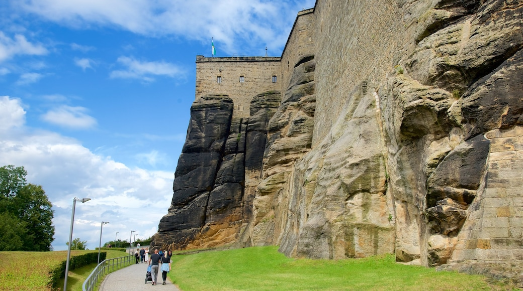 Festung Königstein mit einem Palast oder Schloss