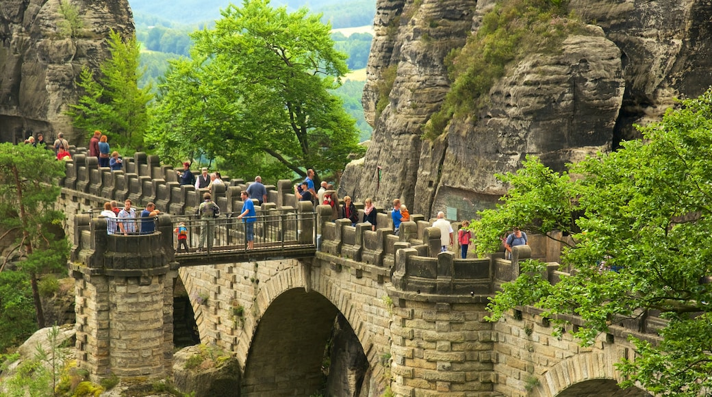 Reise in den Nationalpark Sächsische Schweiz das einen Brücke