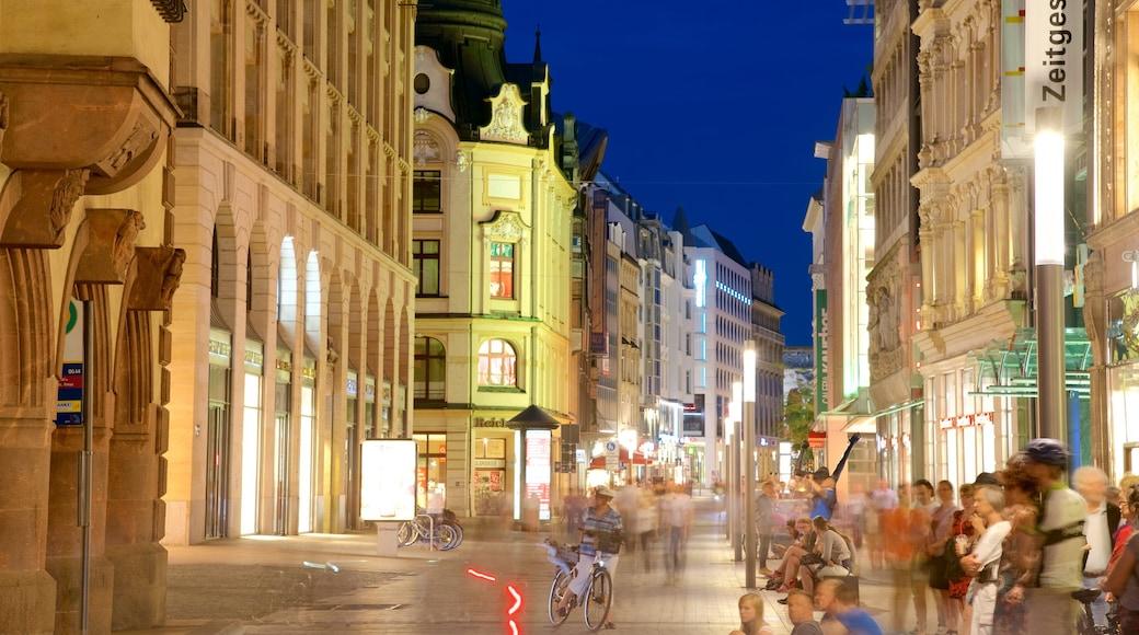 Leipzig som viser gadeliv