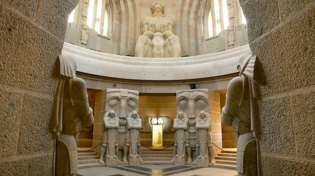 Völkerschlachtdenkmal mit einem Innenansichten