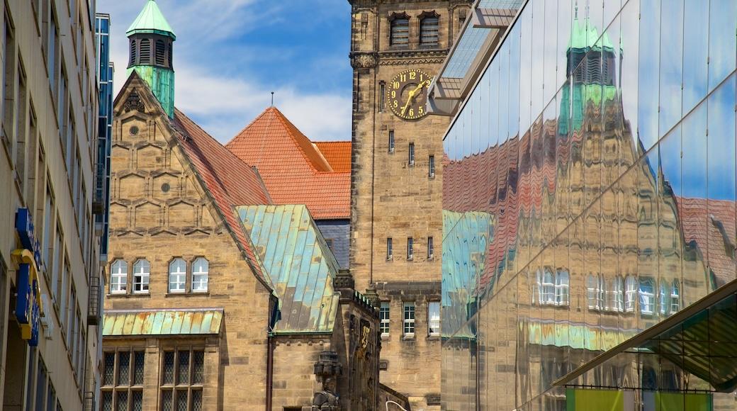 Chemnitz som omfatter en kirke eller en katedral