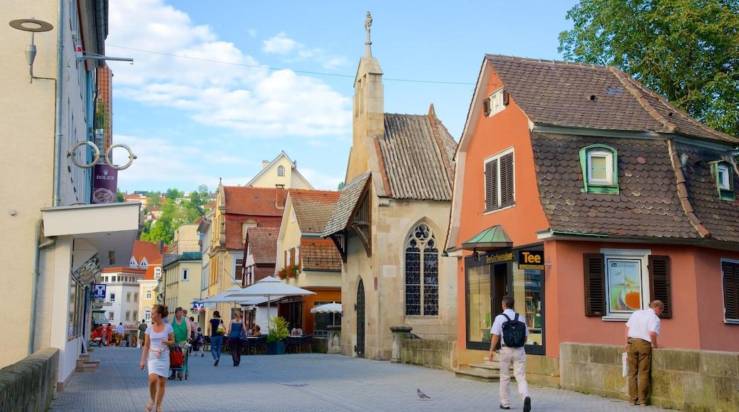 Esslingen welches beinhaltet Café-Lifestyle und Essen im Freien