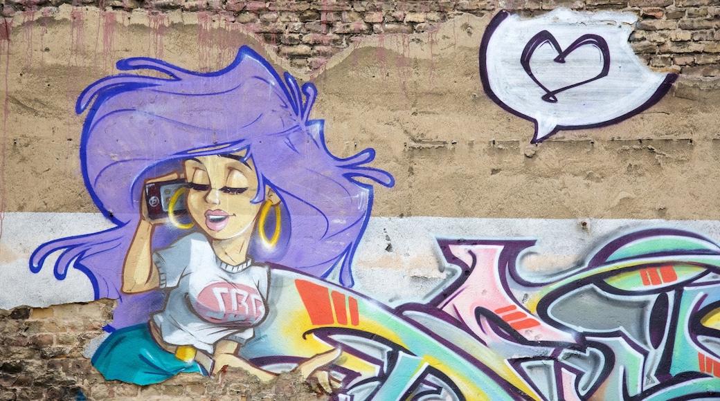 Friedrichshain ofreciendo arte al aire libre y arte