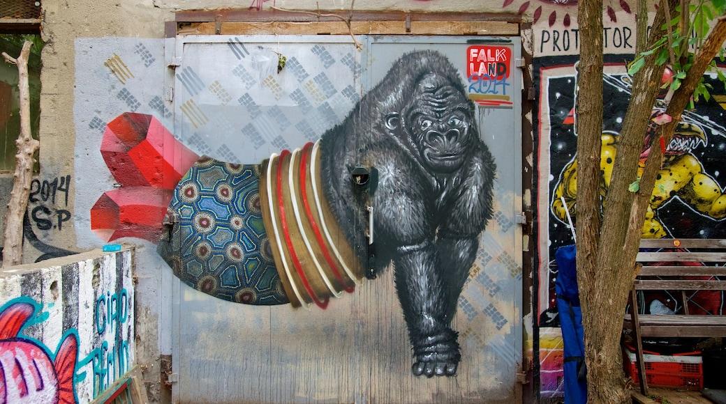 Friedrichshain ofreciendo arte y arte al aire libre