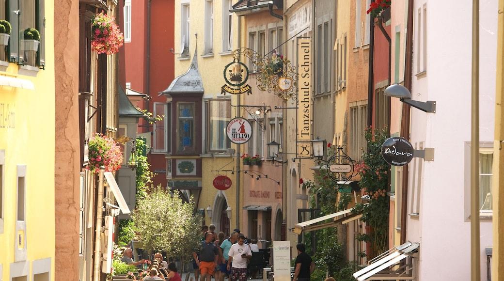 Lindau welches beinhaltet Kleinstadt oder Dorf, Straßenszenen und Beschilderung