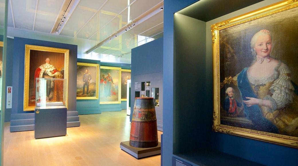 Württembergisches Landesmuseum mit einem Kunst und Innenansichten