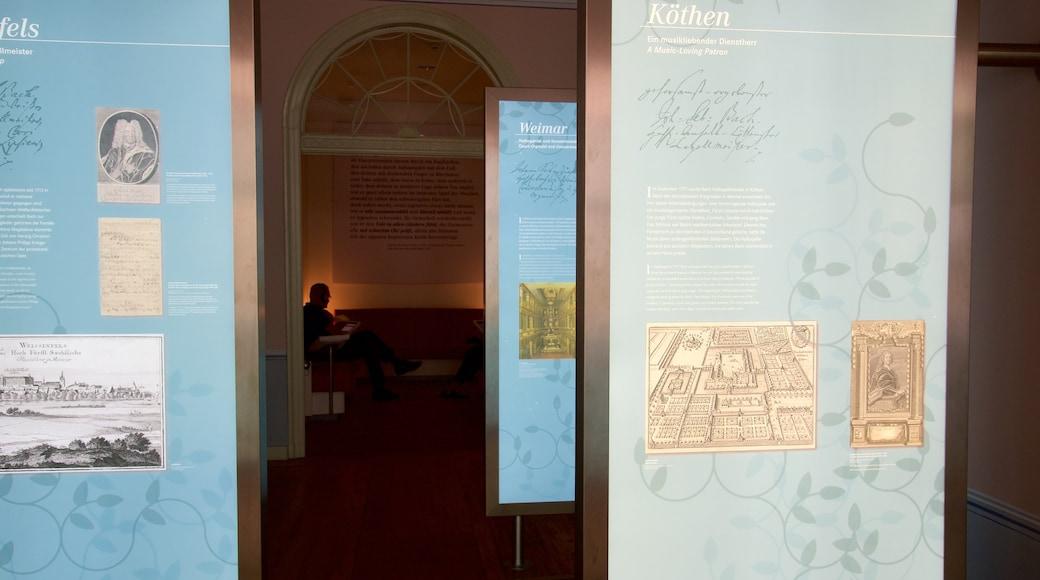 Bach-Museum mit einem Innenansichten und Beschilderung