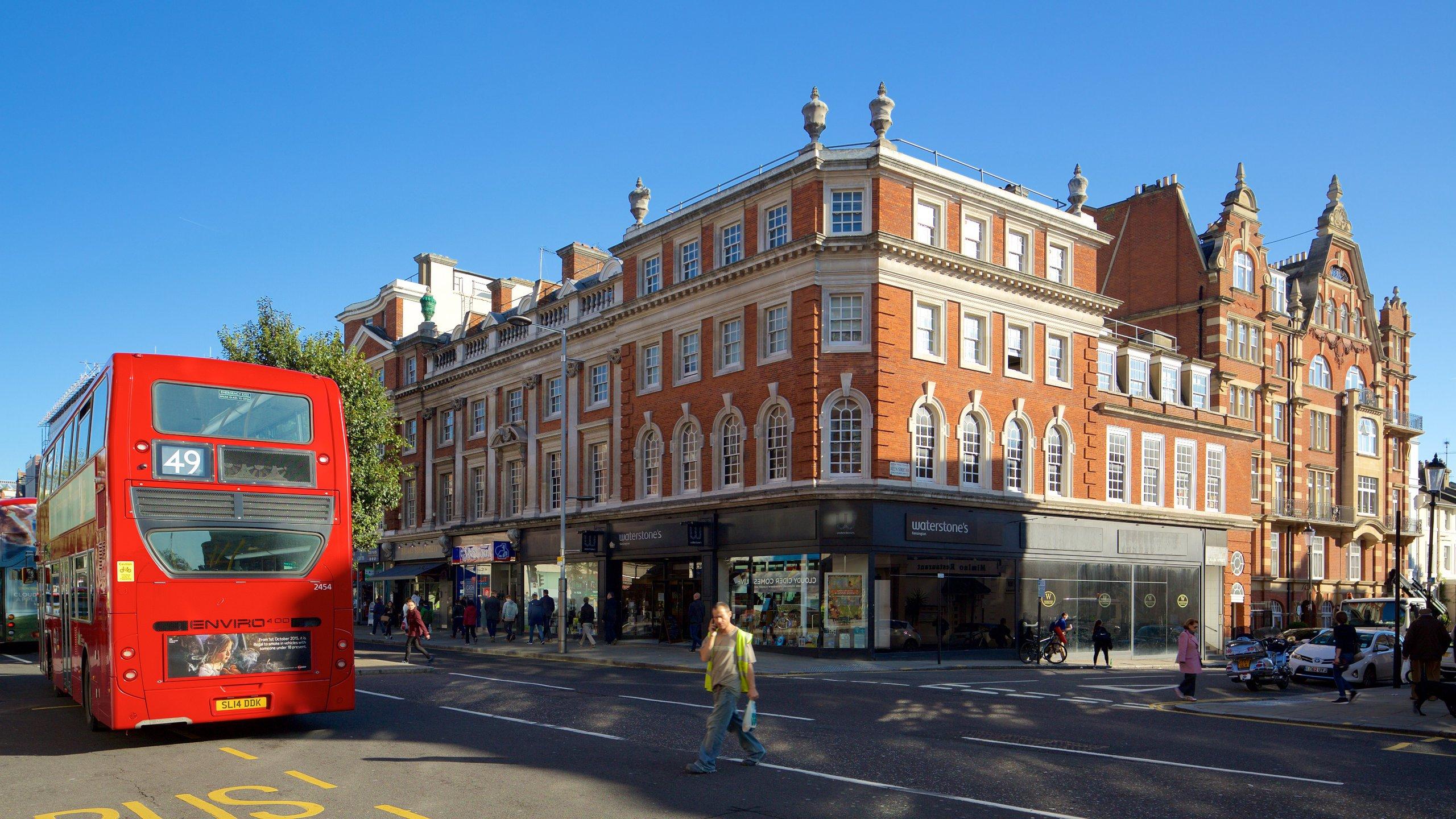 Kensington High Street, London, England, Großbritannien