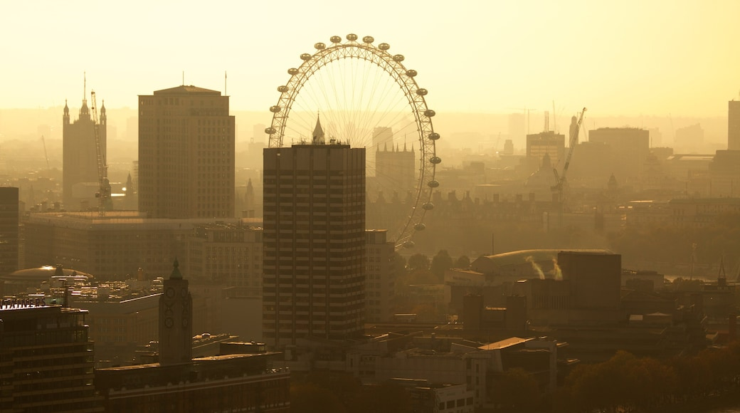 The City of London featuring skyline, a city and a sunset