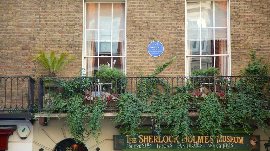 Marylebone featuring signage