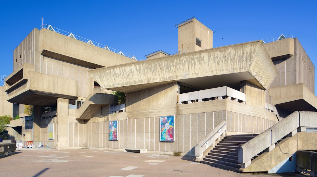 Southbank Centre showing modern architecture and theatre scenes