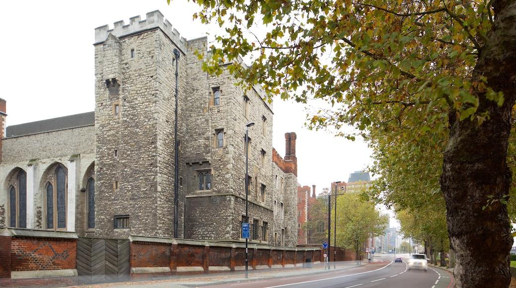 Lambeth Palace som inkluderer gatescener, kulturarv og slott