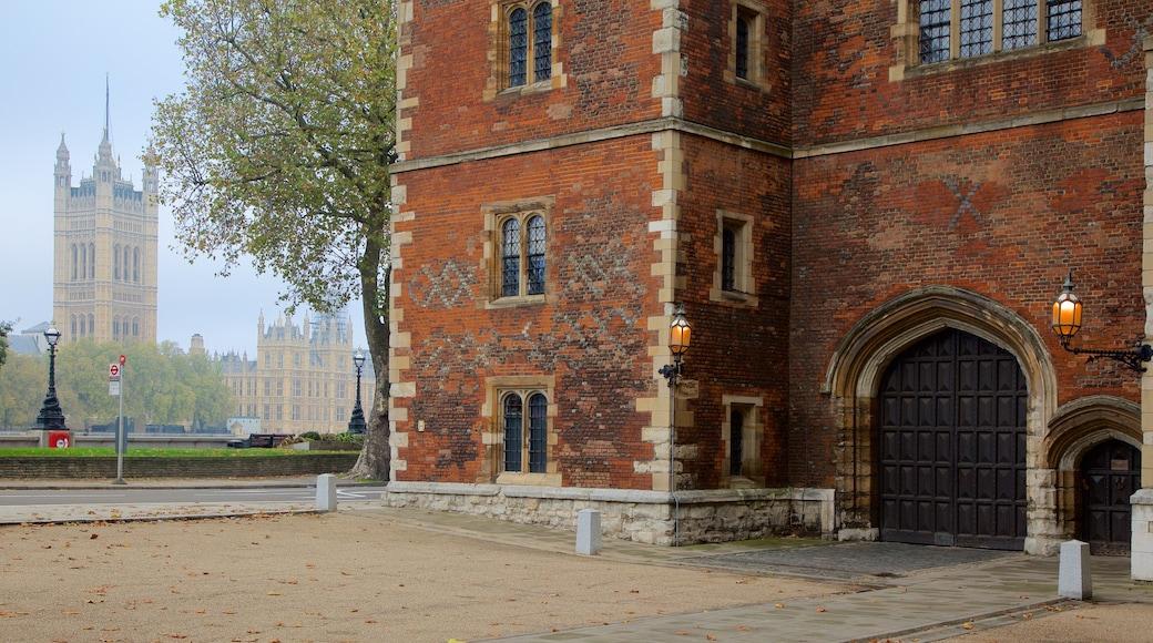 Lambeth Palace fasiliteter samt palass og kulturarv