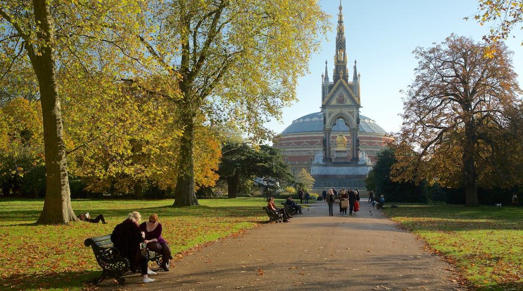 Albert Memorial som omfatter en park
