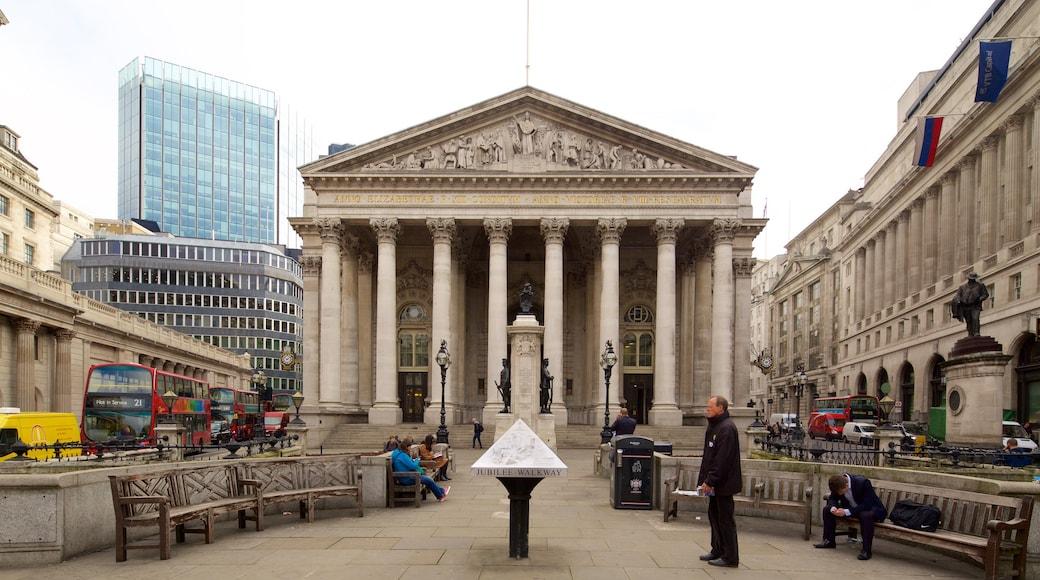 Royal Exchange caracterizando cenas de rua, uma cidade e arquitetura de patrimônio