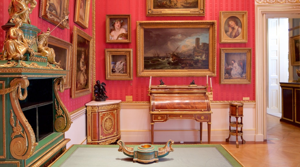 Wallace Collection showing interior views and art