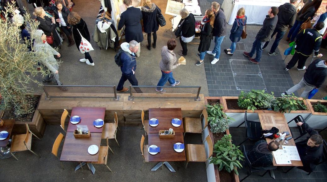 Old Spitalfields Market som inkluderar caféer, marknader och shopping