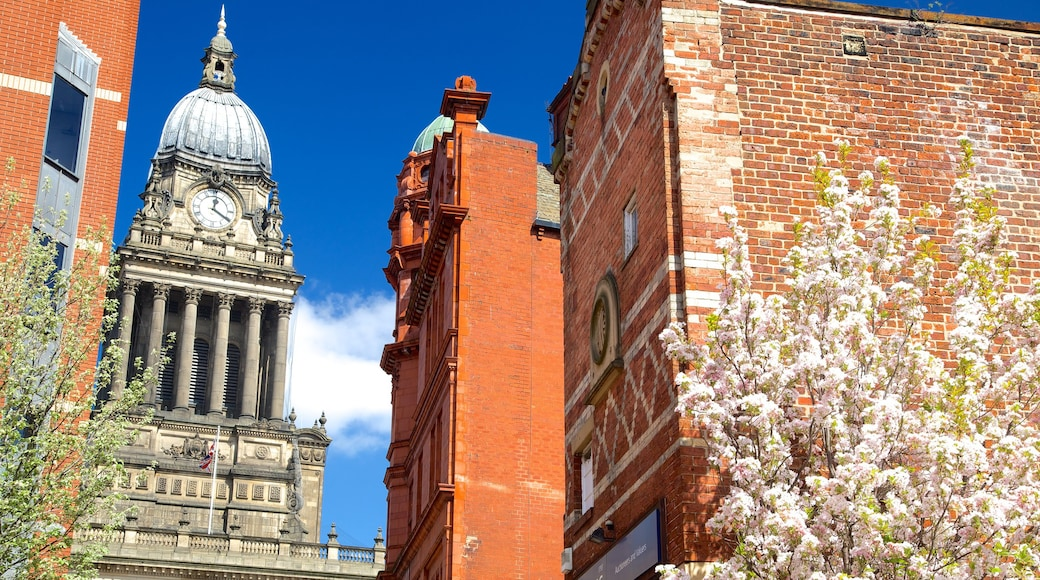 Leeds Town Hall which includes an administrative building and heritage architecture