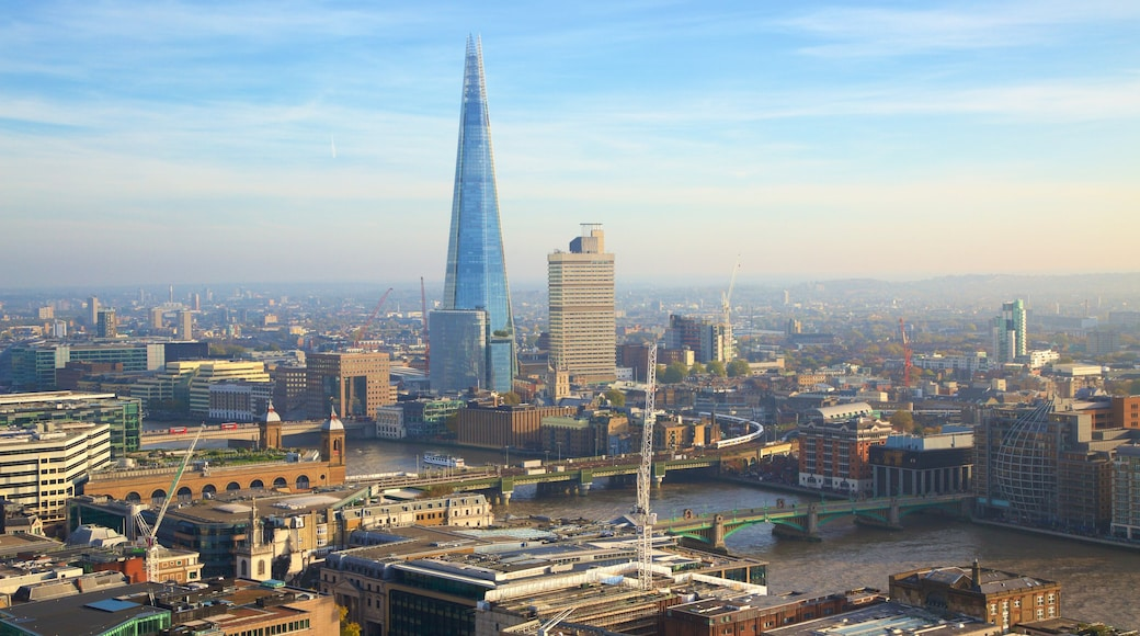 The Shard showing a city, a high-rise building and skyline