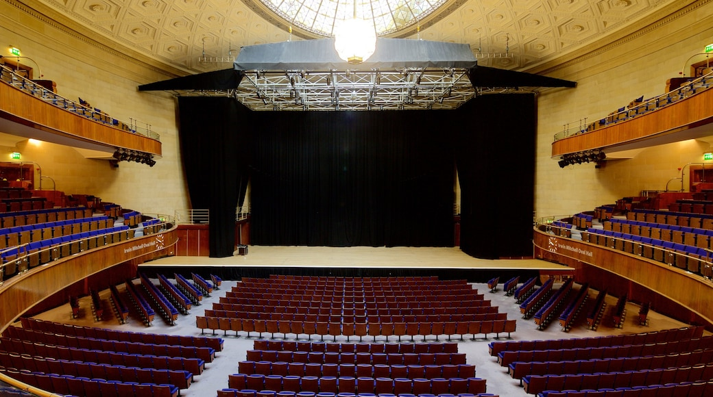 Sheffield City Hall which includes interior views and theatre scenes