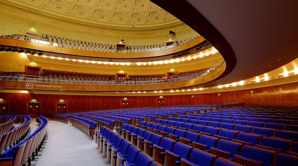 Sheffield City Hall featuring interior views and theatre scenes