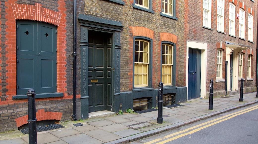 London som inkluderar historiska element