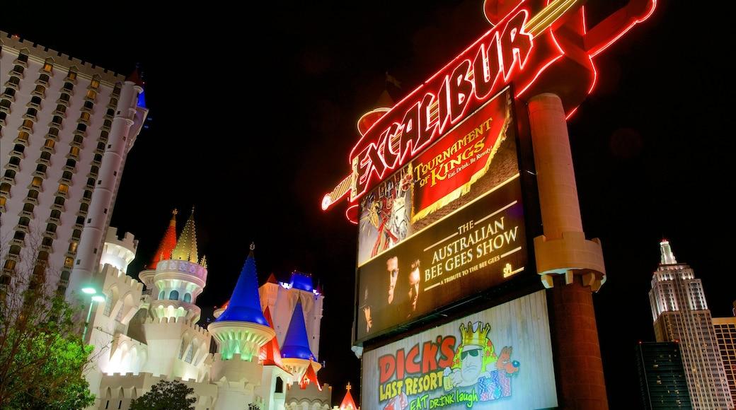 Las Vegas bevat een stad, nachtleven en bewegwijzering