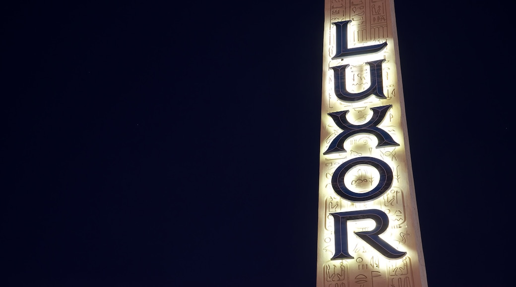 Las Vegas showing signage and night scenes