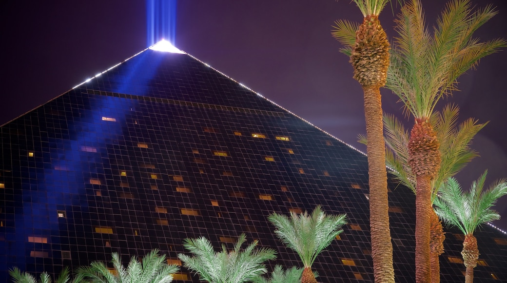 Las Vegas featuring night scenes and a casino