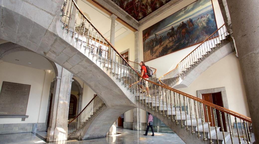 Museo Nacional de Historia featuring interior views and art