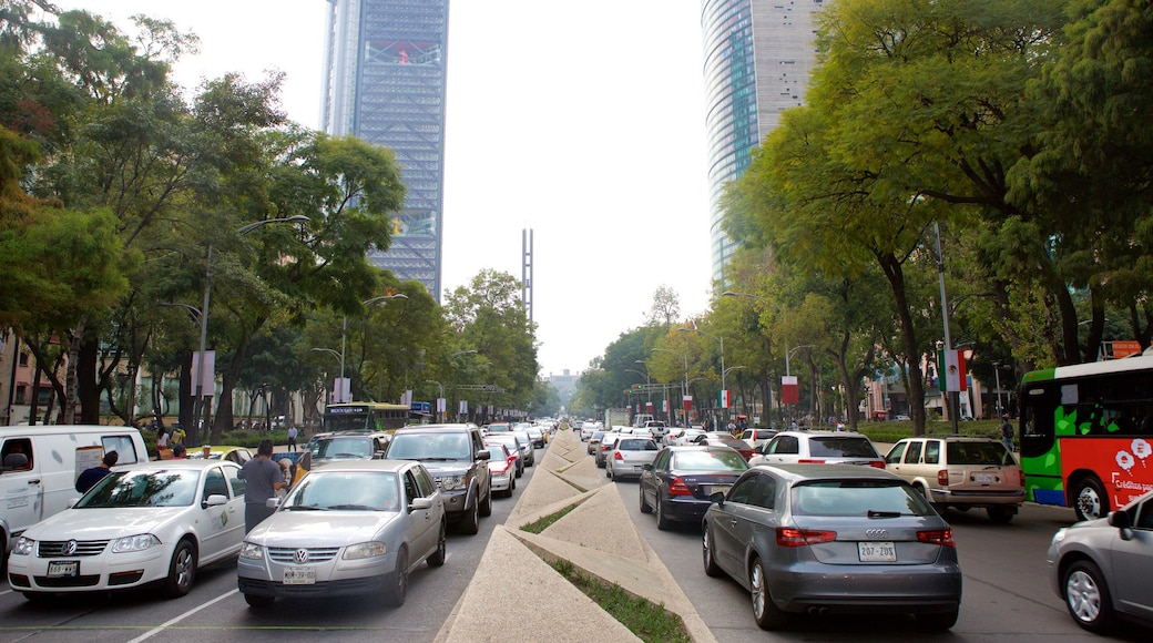 Reforma showing central business district and a city