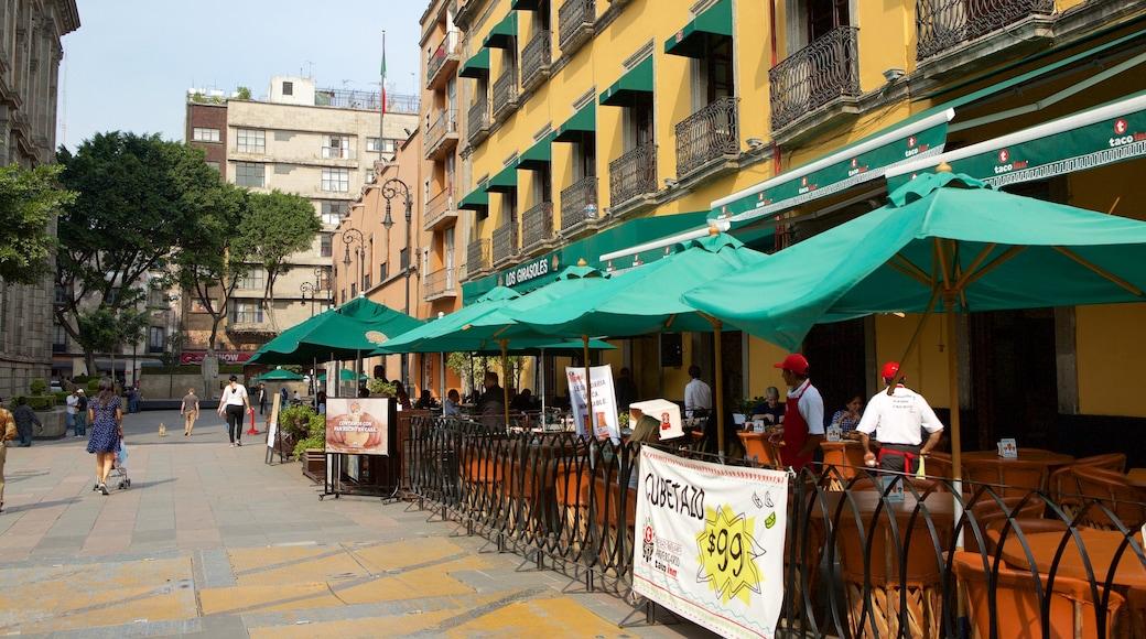 Centre-ville de la ville de Mexico qui includes ville et pause café