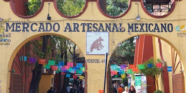 Coyoacan which includes signage