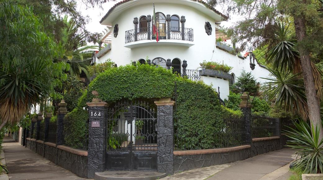Polanco mostrando una casa