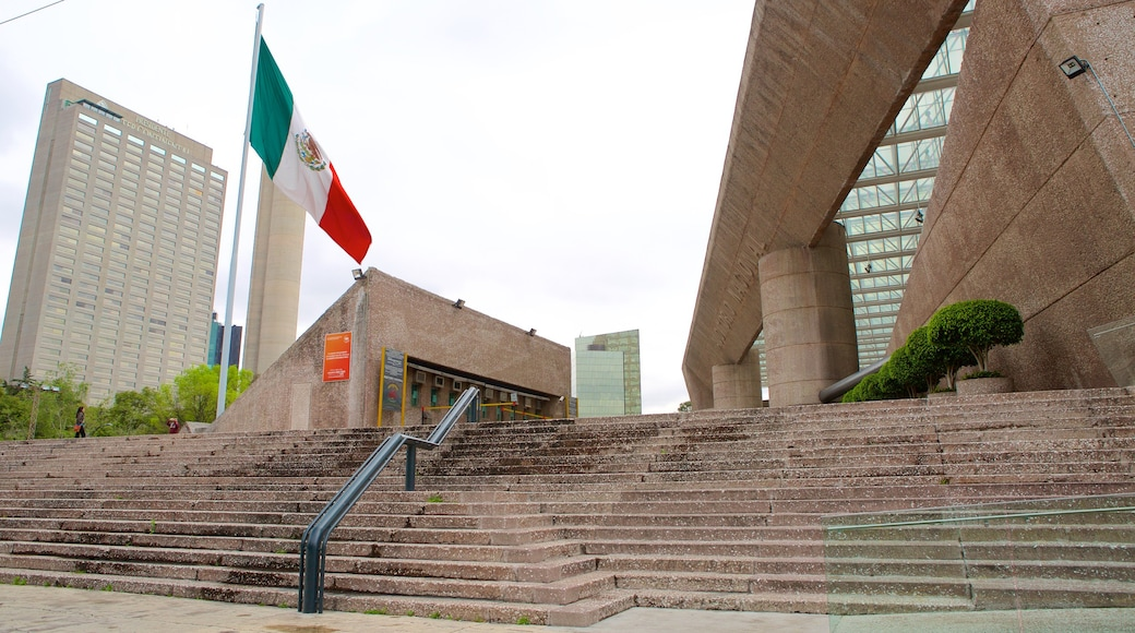 Auditorio Nacional which includes an administrative buidling, modern architecture and theater scenes