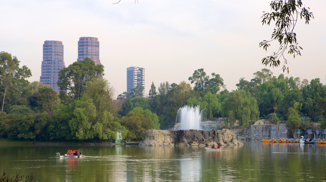 Chapultepec Park which includes a park and a lake or waterhole