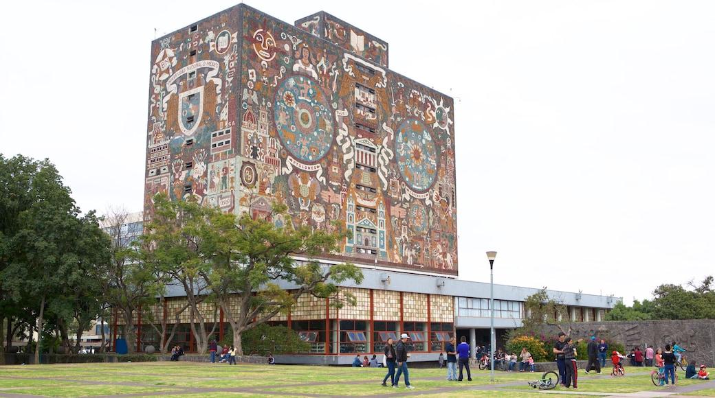 National Autonomous University of Mexico which includes a garden
