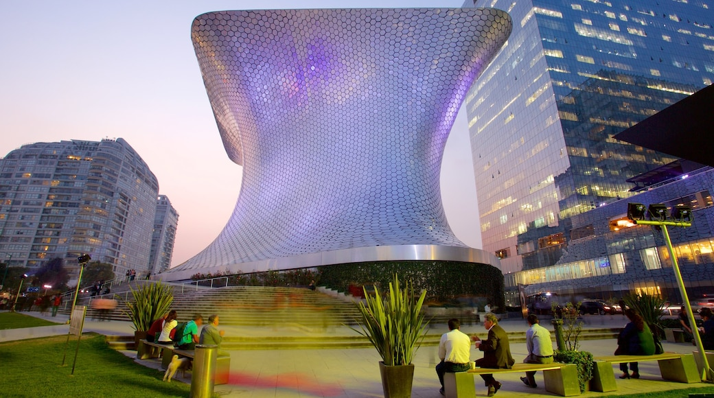 Miguel Hidalgo featuring a sunset, modern architecture and a city