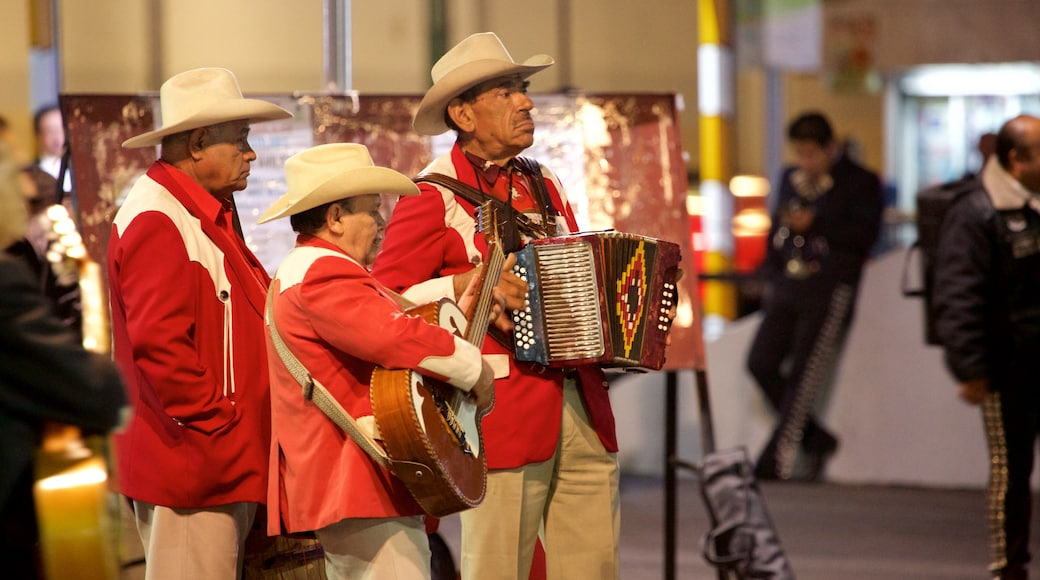 Mexico City featuring street performance, music and a square or plaza